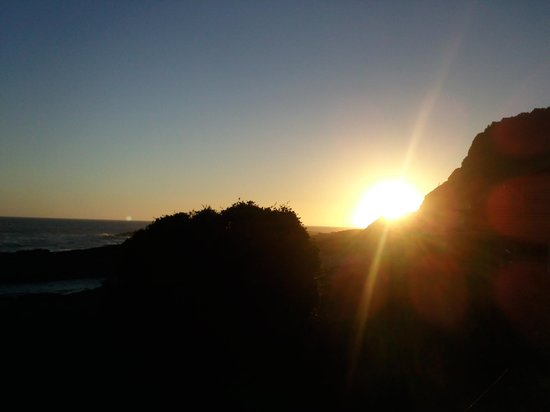Storms River Mouth Restcamp:                   perfect sunset