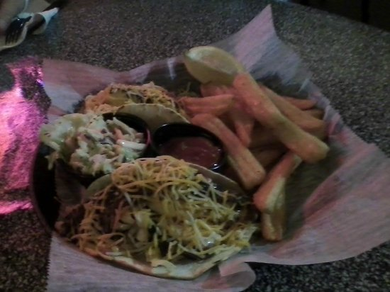Lola's Seafood Eatery:                   fish tacos and fries