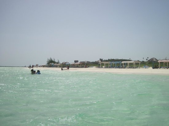 A view of Playa Pilar from the water