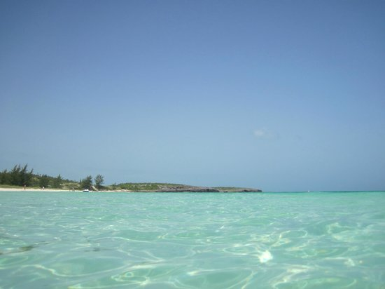Пляж Пилар:                   A view of Playa Pilar from the water