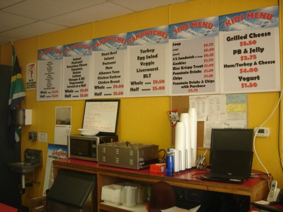 Leger's Deli-Kimball Junction: Menu and prices.