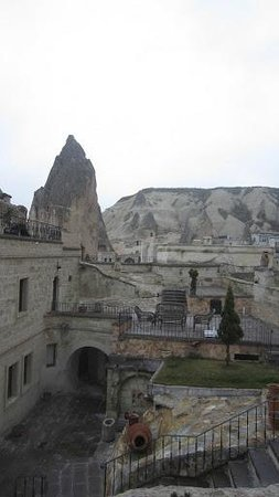 Cappadocia Cave Suites:                   view of grounds from room steps