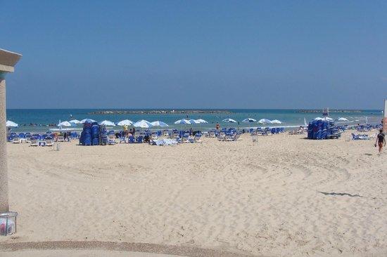InterContinental David Tel Aviv:                   Пляж рядом с отелем
