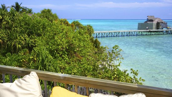 Six Senses Laamu:                                     view from upstairs of  villa 81