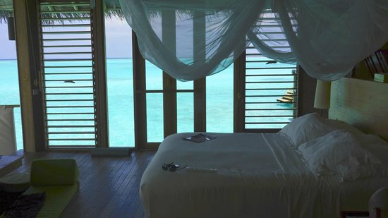 Olhuveli Island:                                     the side view from villa 18