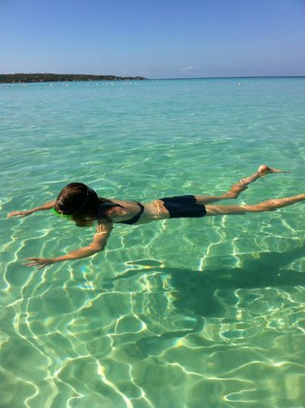 Nirvana on the Beach:                   crystal clear water!!!