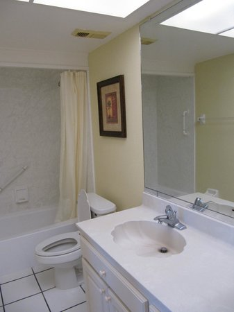 Sand Pebble Resort:                   Bathroom off of master bedroom.
