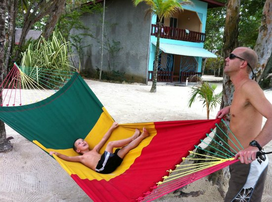Nirvana on the Beach:                   fun in a hammock