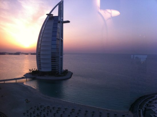 Jumeirah Beach Hotel:                   This was the view from our balcony