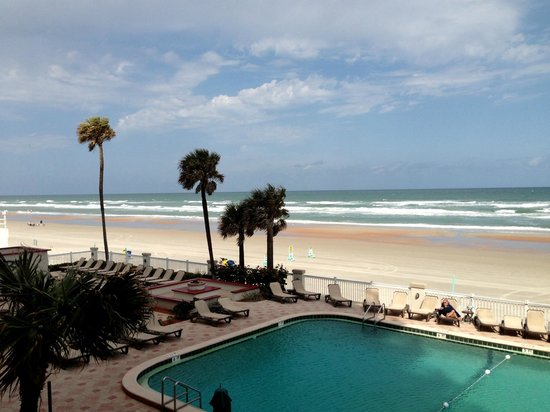 Daytona Beach Resort and Conference Center:                   View from our 2nd story balcony & one of the pools