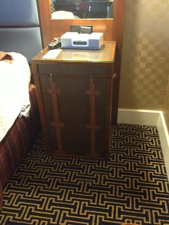 Kimpton Hotel Monaco Baltimore Inner Harbor:                   not your average bedside table!