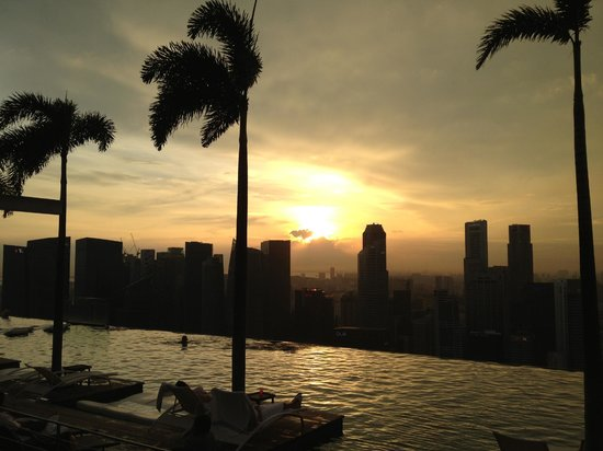 Marina Bay Sands:                                     Sunset by the Pool - Feb 2013