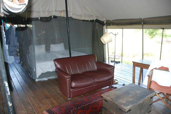 "Honeyguide Tented Safari Camps:                   Living and sleeping area in our ""tent"""