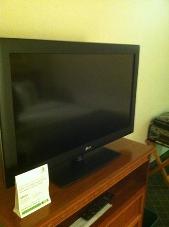 The Hotel Ithaca:                   flat screen.