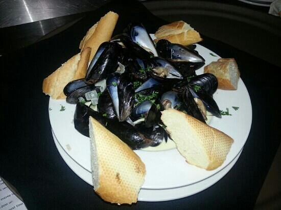 Brasserie du Soleil:                   A heaping bowl of mussels, also came with a side of fries.