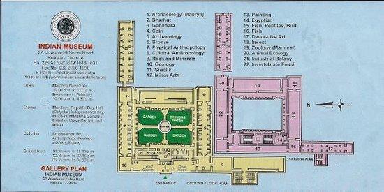 Indian Museum (Jadu Ghar):                   map of museum