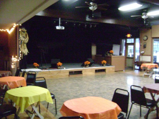 Glen Eden Nudist Resort:                   The stage at the recreation center