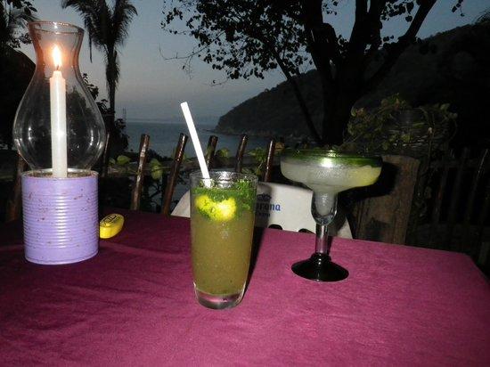 Shambhala :                                     MnM = Margarita & Mojito; best drinks in Yelapa.
