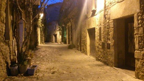 Hotel El Cau de Papibou:                   la calle del hotel