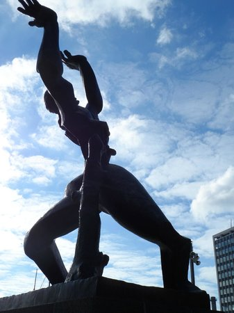Destroyed City:                   The Zadkine sculpture