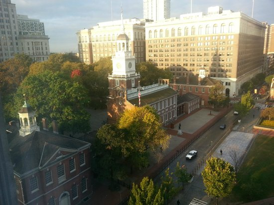 Kimpton Hotel Monaco Philadelphia:                   View of Independence Hall from my Room