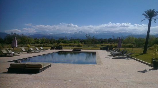 Kasbah Caracalla:                   Amazing view of the Atlas Mountains from the pool area