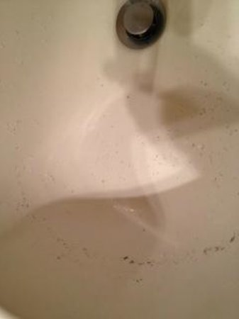 Place St-Bernard:                   Unwashed sink by the maid