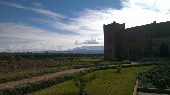 Kasbah Caracalla:                   Beautiful view of the Kasbah and Atlas Mountains in the background