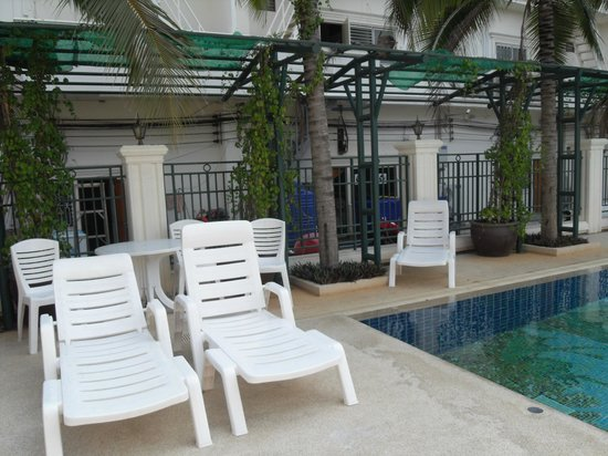 Baan Klang Hua Hin Condo & Resort:                   rear of local shops along side pool