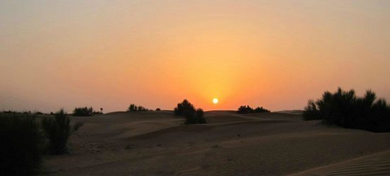 Al Maha, A Luxury Collection Desert Resort & Spa:                   Sunset view