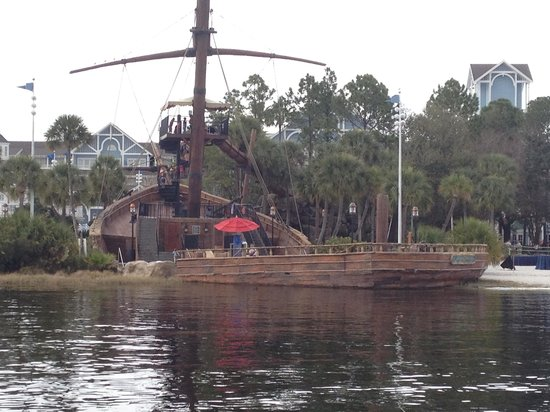 Pirate Ship Slide at Disney's Beach Club Resort, Orlando