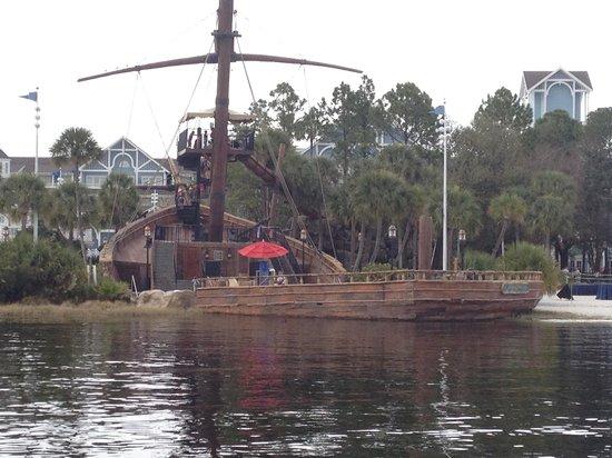 Disney's Beach Club Resort:                   Pirate Ship Slide at Disney's Beach Club Resort, Orlando                 