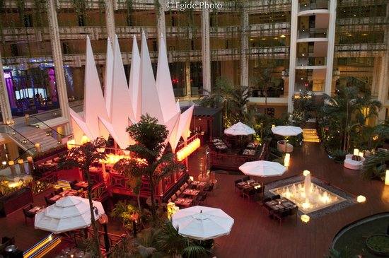 Paradisus Cancun:                   Great Decorations with natural plants...Amazing lighting...