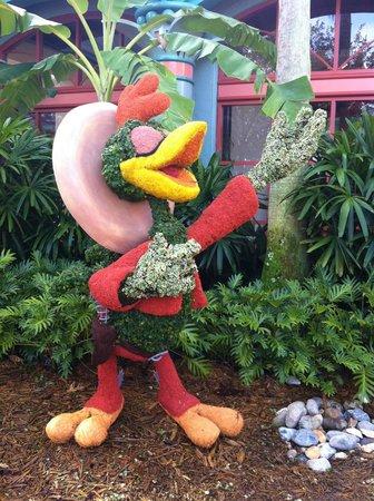Disney's Coronado Springs Resort:                   Topiary.