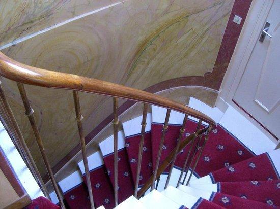 Hotel Saint Germain des Pres:                   Stairway