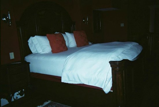 Wedmore Place:                                     The very comfy bed! Venetian.