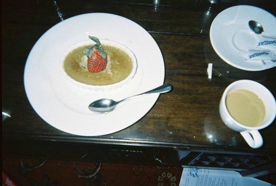 Wedmore Place:                                     The BEST brulee I've ever had; espresso creme.