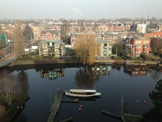 Hilton Amsterdam:                   View from 6th floor