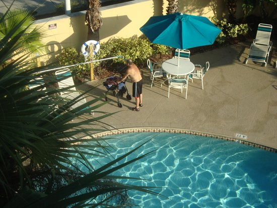 La Quinta Inn & Suites University Drive South:                   Sparkling-clean pool - on view from our 3rd floor room