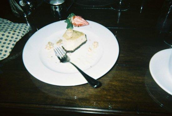 Cafe Provencal:                   Half eaten hazelnut cheesecake, it was too good for my boyfriend to wait.