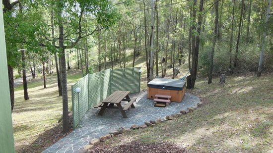 Cottages On Mount View:                   Hot tub!