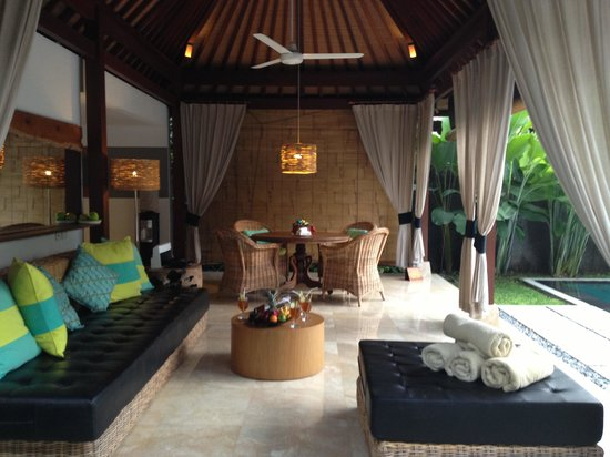 The One Villa:                                                                         Open living room