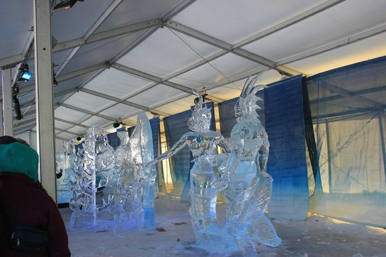 Rideau Canal:                   Ice sculptures at the winterlude