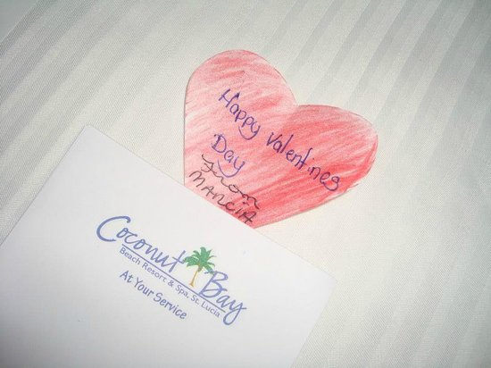 Coconut Bay Beach Resort & Spa :                   Notes from the housekeeper! Really nice touch