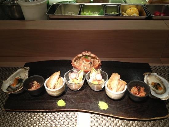 Kamo:                                     first dish of the degustation menu
