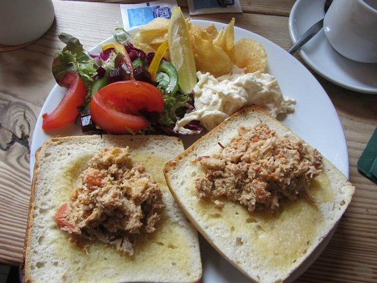 The Bay Hotel:                   Crab sandwich