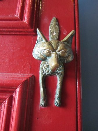 The Bay Hotel:                   Original Fox door knocker
