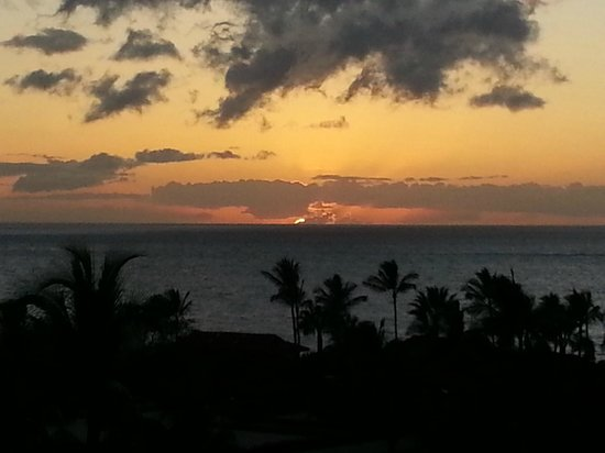 Four Seasons Resort Maui at Wailea:                   Sunset fro our Lanai