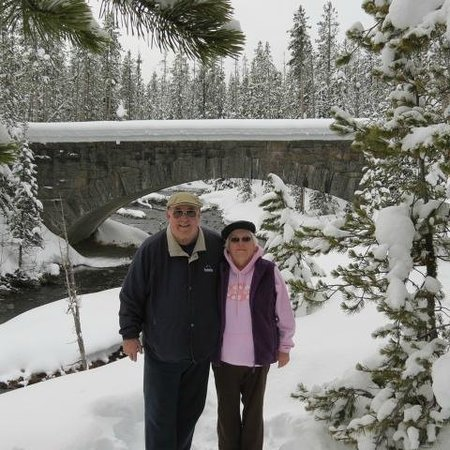 Elk Country Inn:                   Yellowstone Waterfall Linda & I