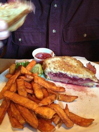 Old Erie Restaurant:                   Pastrami Reuben with sweet potato fries - yummy!